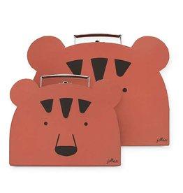 Jollein Speelgoedkoffertje Animal Club Rust 2Pack