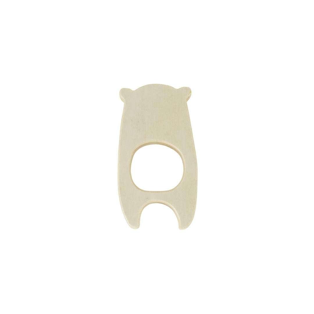Jollein Teething Ring Wooden Bear