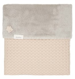 Koeka Oslo Wiegdeken Teddy Sand/Misty Grey