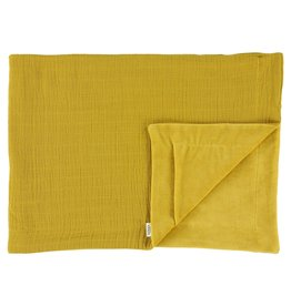 Les Rêves d'Anais Blanket 75x100cm Bliss Mustard & Fleece
