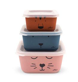 Jollein Snackbox Set Bamboe Animal Club