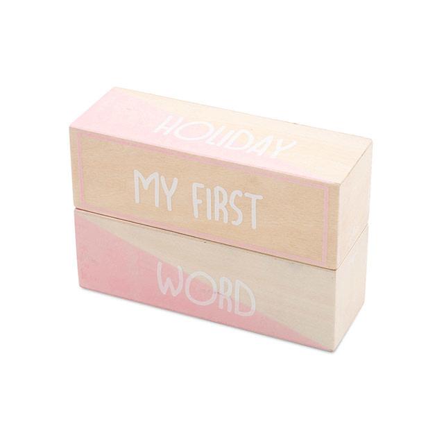 Jollein My First Moments Blocks White/Pink