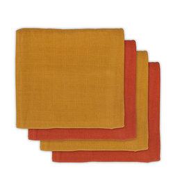 Jollein Bamboe Multidoek Sall 70 x 70 cm Mustard/Rust