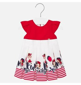 Mayoral Dress Fun Style Red Marine