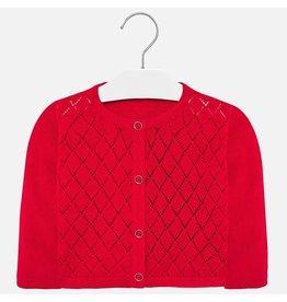 Mayoral Knitting Cardigan Red