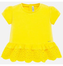 Mayoral Yellow perforated shirt S/S