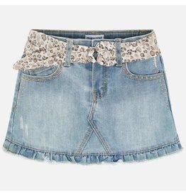Mayoral Denim Skirt Bleached