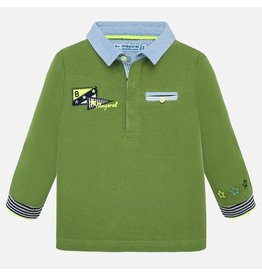 Mayoral Polo L/  Applique Selva Green