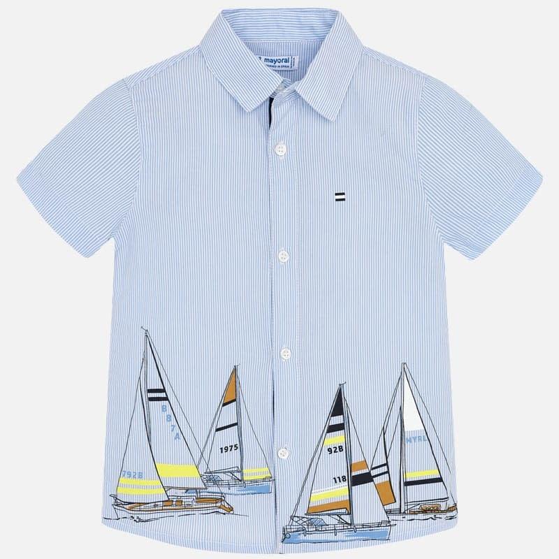 Mayoral Shirt S/S Lightblue