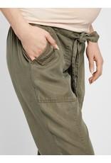 Mamalicious Leona Woven Pants Dusty Olive