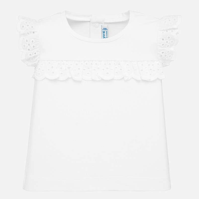 Mayoral White S/S T-Shirt