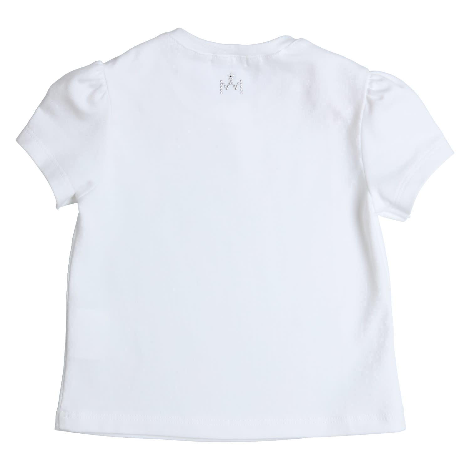 Gymp Tee White Bow Pink