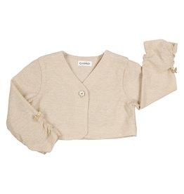 Gymp Cardigan Knit Sparkle Gold