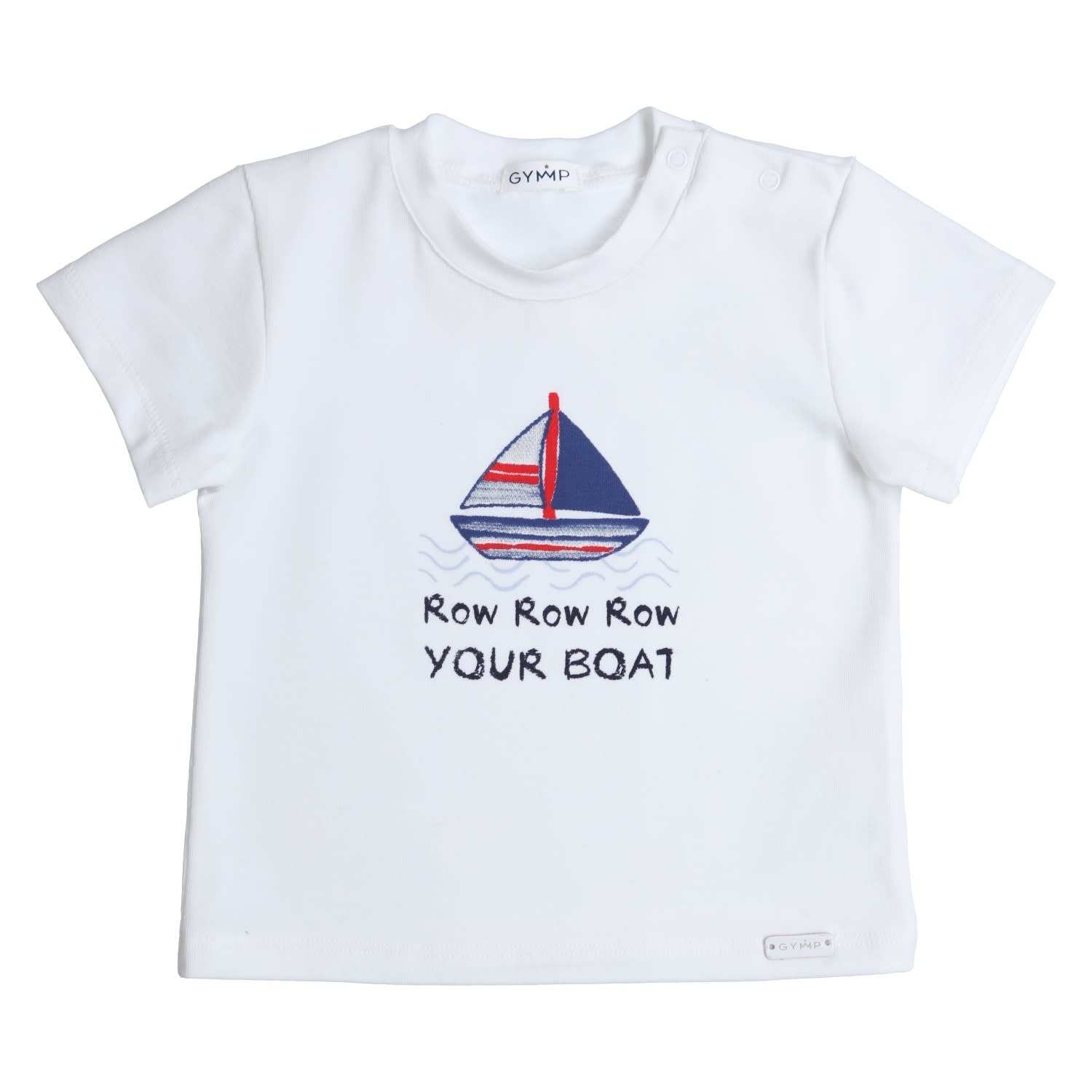 Gymp Tee White Row Your Boat