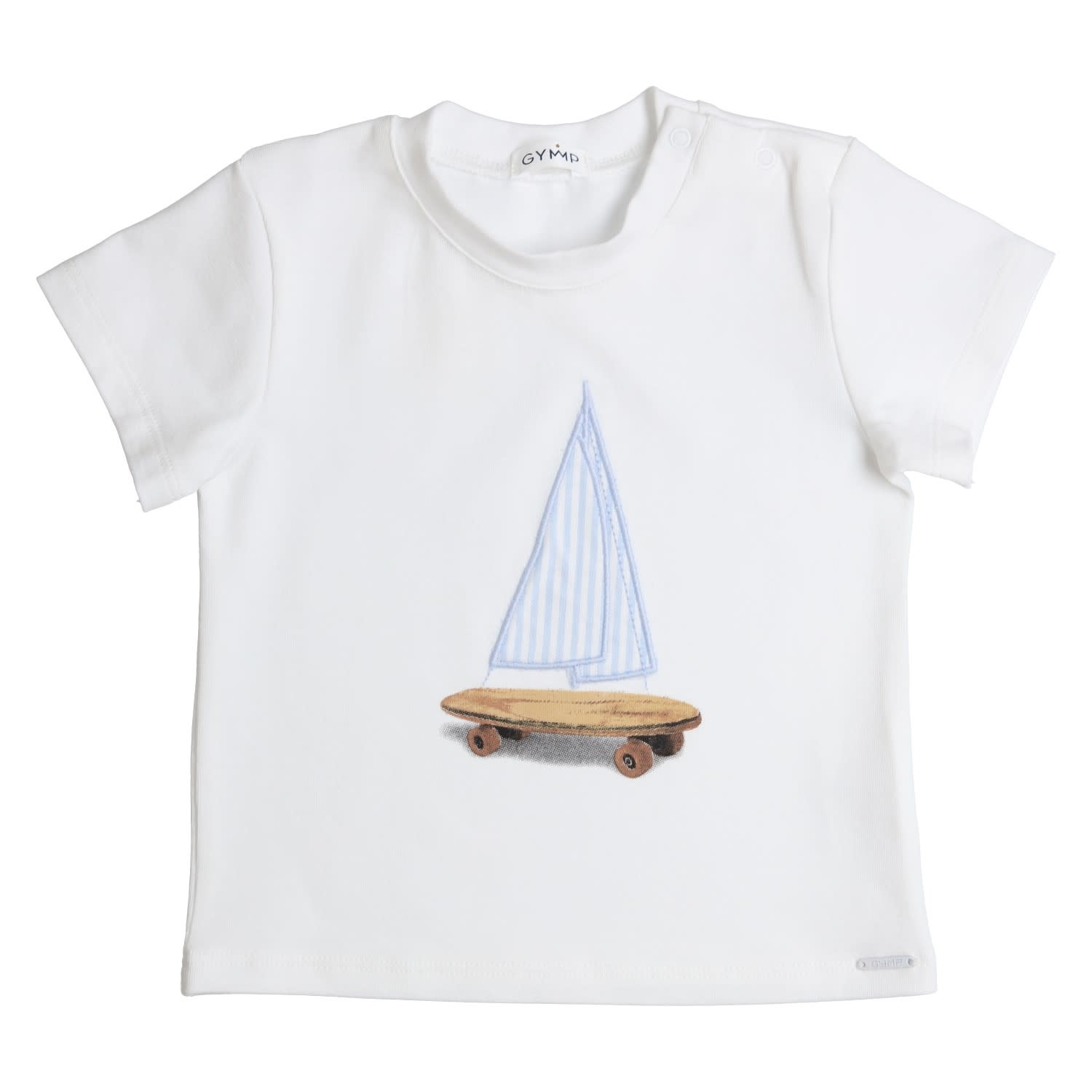 Gymp Tee White Sailor Boat
