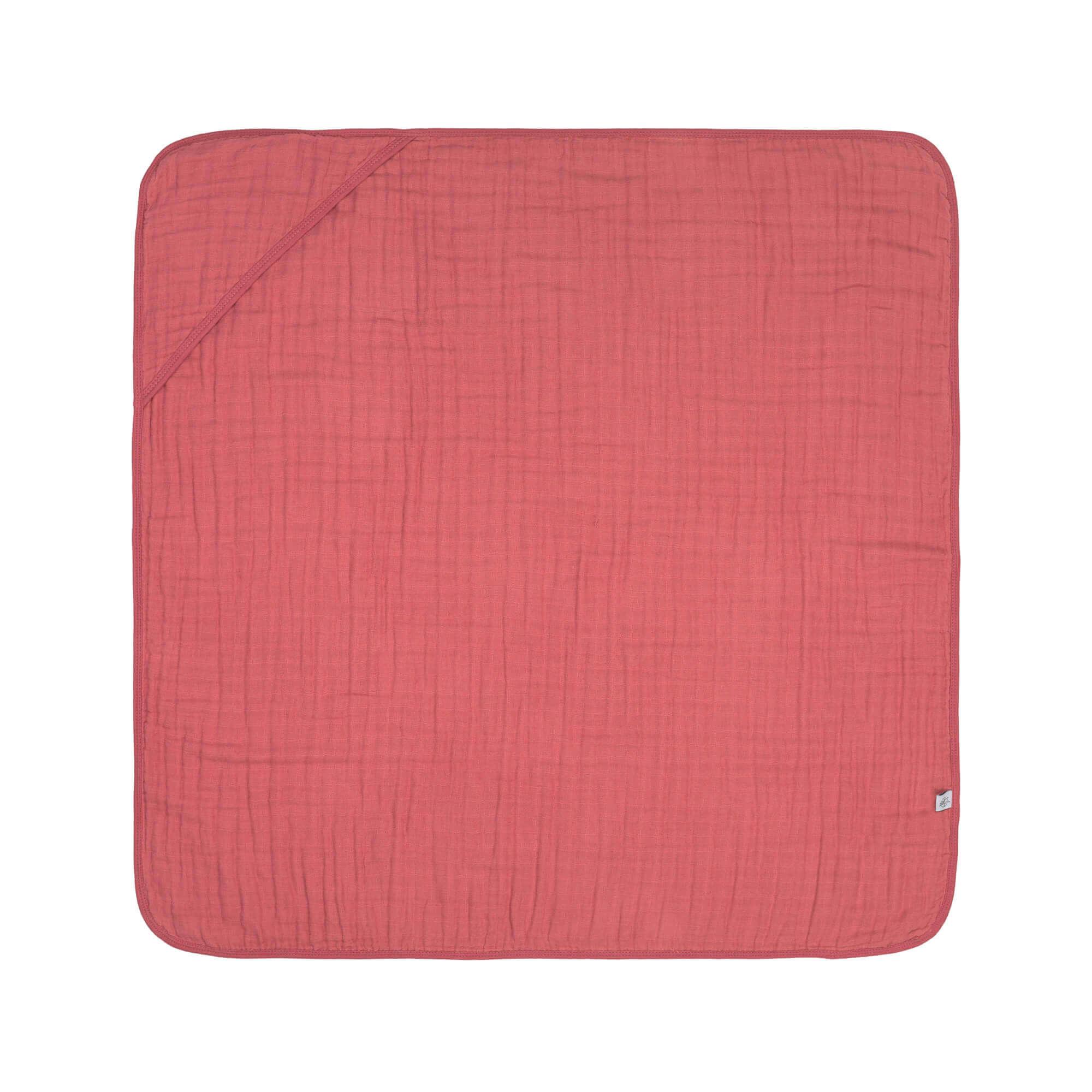 Lassig Muslin Hooded Towel Rosewood