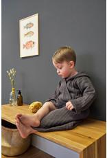 Lassig Muslin Bathrobe Anthracite 12-18 Months