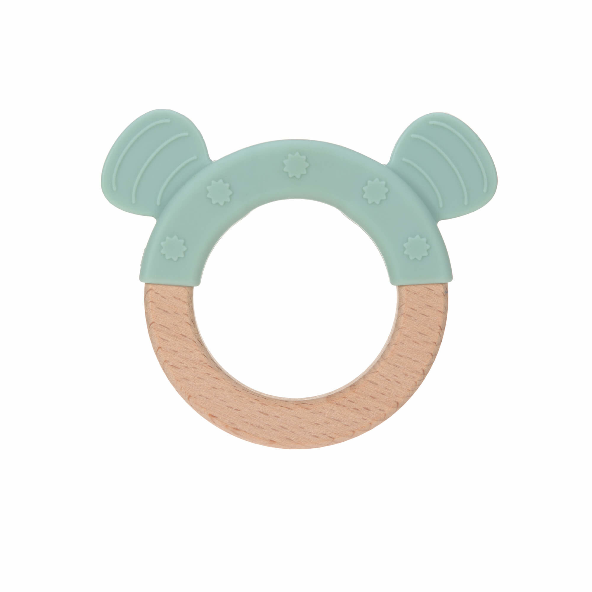 Lassig Teether Ring Wood/Silicone Little Chums Dog