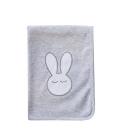 Baby Gi Cotton Nappie Grey Sleepy Bunny