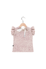 House Of Jamie Ruffled Tee Orchid Leopard