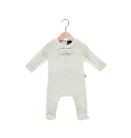 House Of Jamie Bow Tie Babysuit Cream Leopard