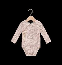 House Of Jamie Wrap Bodysuit Orchid Leopard