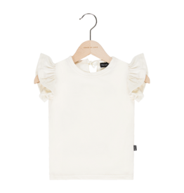 House Of Jamie Ruffled Tee Cream