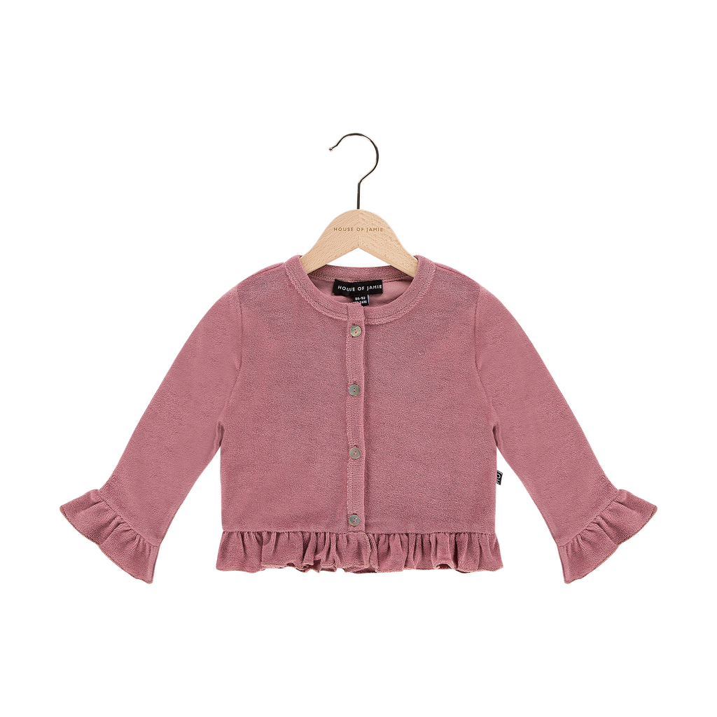 House Of Jamie Frill Cardigan Orchid