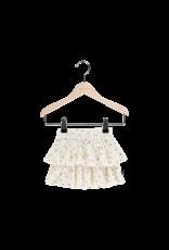 House Of Jamie Ruffled Skirt Cream Black Dots