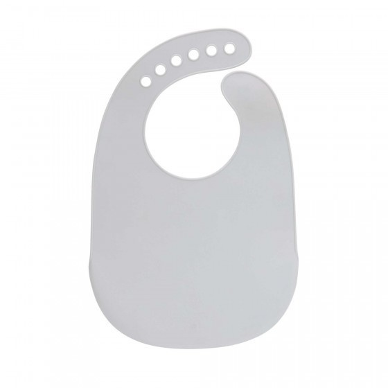 Lassig Silicone Bib Little Chums Mouse Grey
