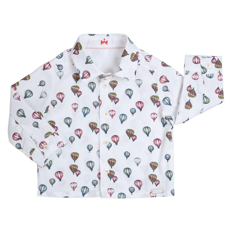 Gymp Shirt White L/S Balloon