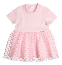 Gymp Dress Light-Pink S/S Flower