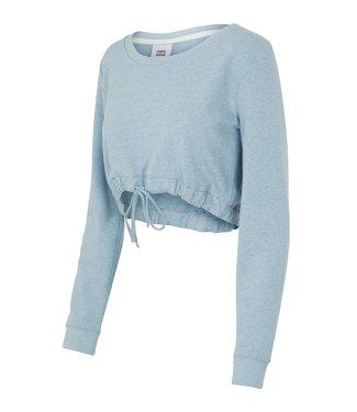 Mamalicious Riba Sweater Zwangerschapstop Ashley Blue Melange