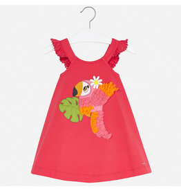 Mayoral Embroidered Dress Watermelon