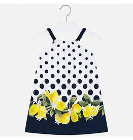 Mayoral Dress Lemon Navy