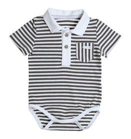 Gymp Polo Body S/S White Khaki Stripes