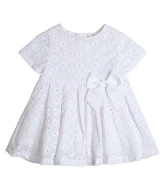 Gymp Dress White Flower Broderie