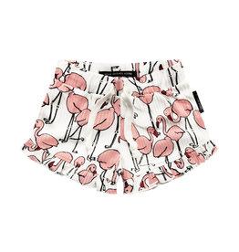 Your Wishes Flamingo Ruffle Short