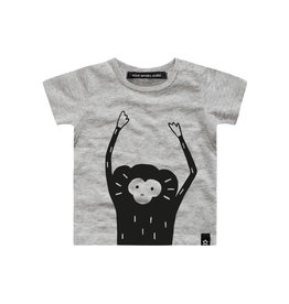 Your Wishes Monkey Face Tee Grey