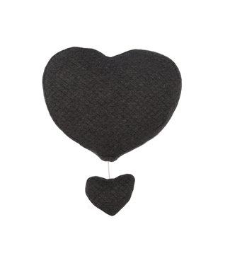 Les Rêves d'Anais Musical Heart Daimond Anthracite