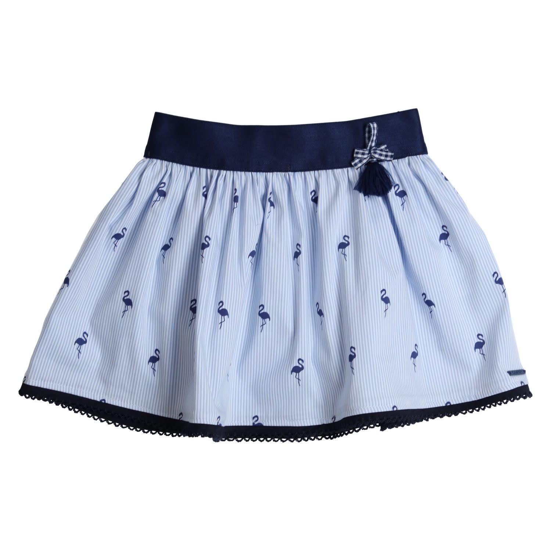 Gymp Skirt Blue Flamingo