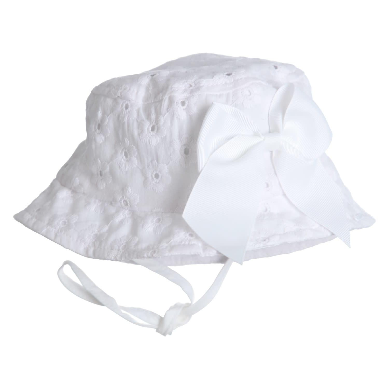 Gymp Sun Hat White Bow