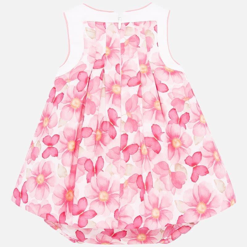 Mayoral Printed Dress Pink Flowers
