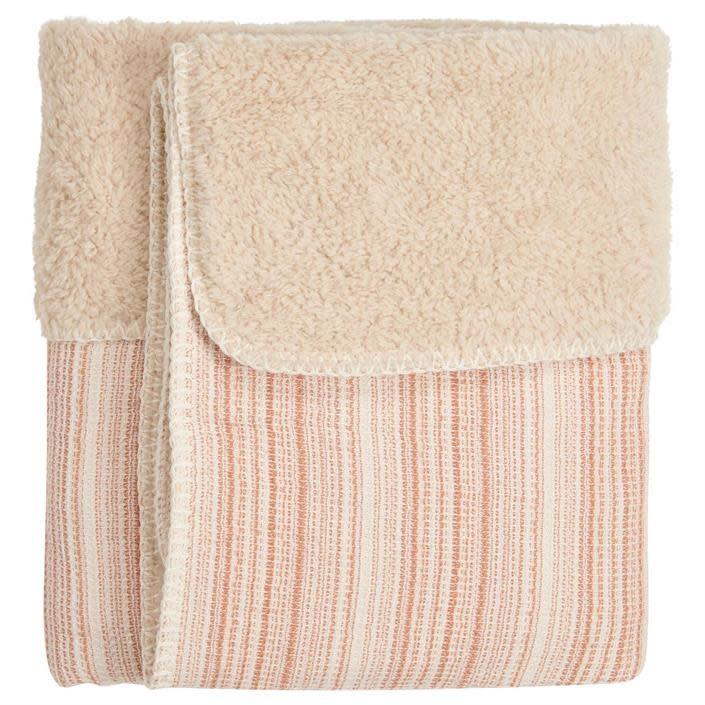 Koeka Wiegdeken Maui Teddy Old Pink/Soft Sand