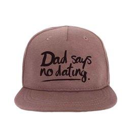"""Van Pauline Own Design Cap """"Dad Says No Dating"""" Old Pink"""