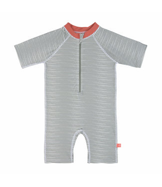 Lassig Sunsuit Short Sleeve Striped Coral