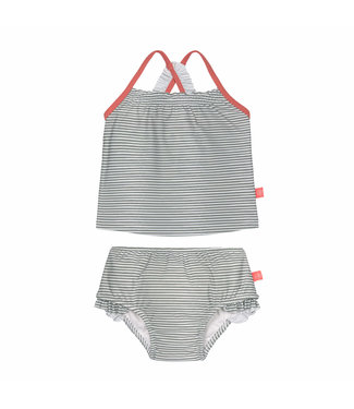 Lassig Tankini Set Girl Striped Coral