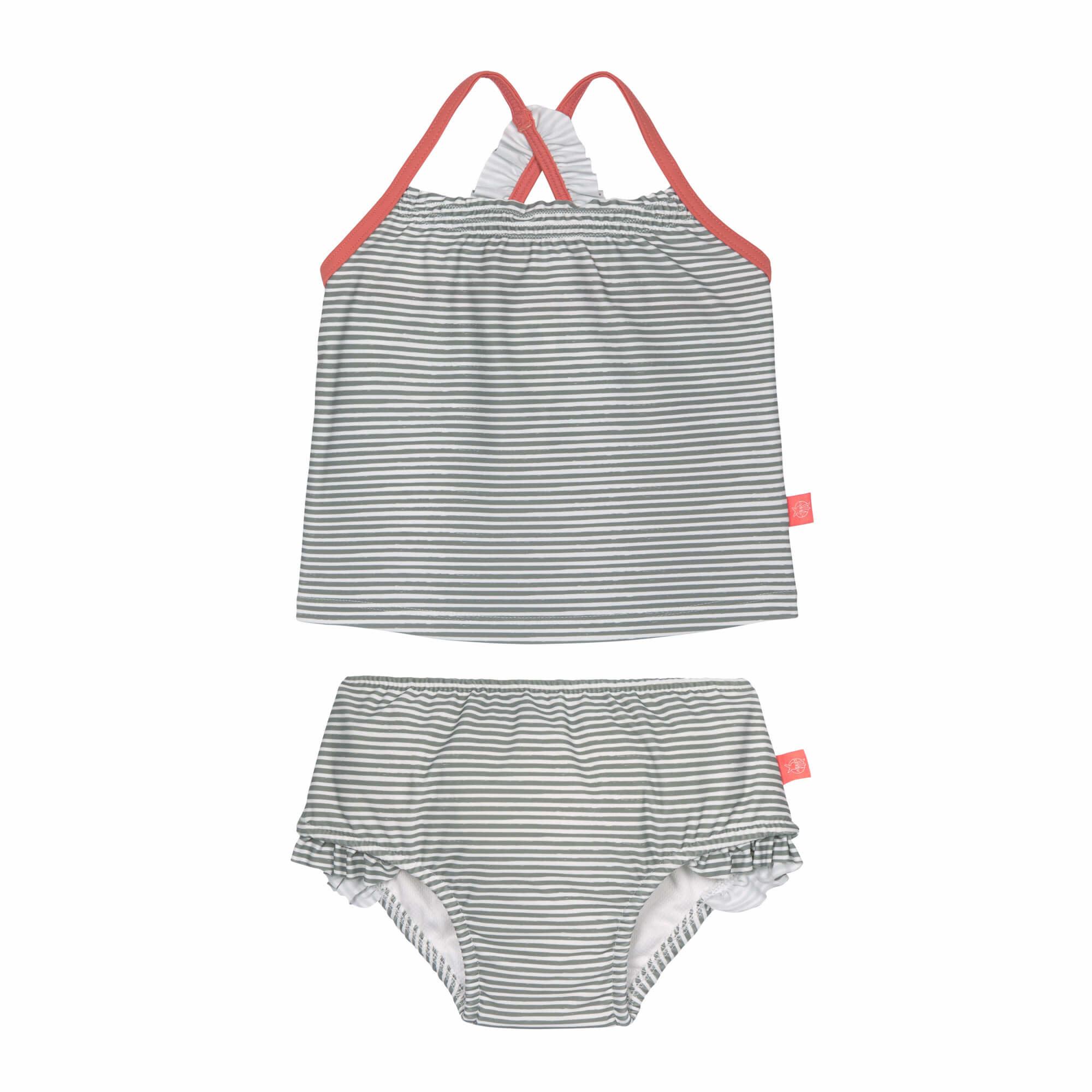 Lassig Tankini Set Girl Striped Coral