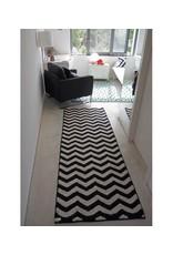 Lorena Canals Mat Zig-Zag Black & White 80 x 230 cm