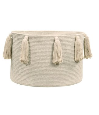 Lorena Canals Basket Tassels Naturel 30 x 45 x 45 cm